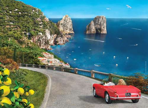 Capri (Romantic Italy) (CLE 39357), a 1000 piece jigsaw puzzle by Clementoni. Click to view larger image.