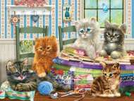 Kitten Capers (HOL095766), a 300 piece Holdson jigsaw puzzle.