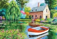 The Pond House (HOL094561), a 500 piece Holdson jigsaw puzzle.