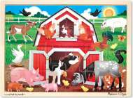 Barnyard Animals (Wooden Puzzle) (MND9061), a 24 piece Melissa and Doug jigsaw puzzle.