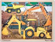 Diggers at Work (Wooden Puzzle) (MND9064), a 24 piece Melissa and Doug jigsaw puzzle.