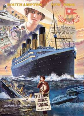 Titanic (CLE 39271), a 1000 piece jigsaw puzzle by Clementoni. Click to view larger image.