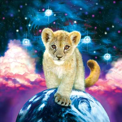 Moonlit Cub (SUN80108), a 500 piece jigsaw puzzle by Sunsout. Click to view larger image.