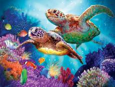 Turtle Guardian (SUN70930), a 1000 piece Sunsout jigsaw puzzle.