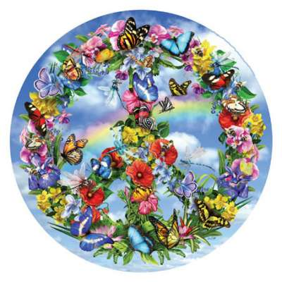Peaceful Garden (Shaped Puzzle) (SUN34973), a 1000 piece jigsaw puzzle by Sunsout. Click to view larger image.
