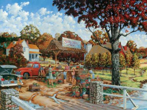 Stone Creek Farm (Large Pieces) (SUN19501), a 300 piece jigsaw puzzle by Sunsout. Click to view larger image.