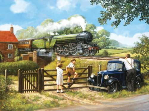 Passing By (SUN13799), a 1000 piece jigsaw puzzle by Sunsout. Click to view larger image.