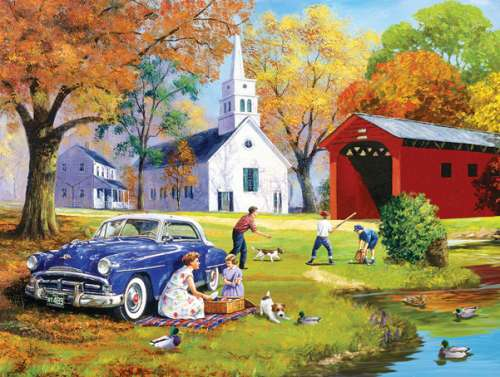 Family Time (Large Pieces) (SUN13735), a 300 piece jigsaw puzzle by Sunsout. Click to view larger image.