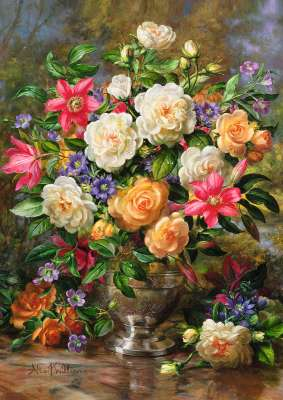 Flowers of Queen Elizabeth (TRE45003), a 4000 piece jigsaw puzzle by Trefl. Click to view larger image.