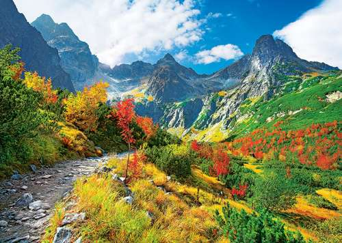 Autumn, Tatras, Poland (TRE37190), a 500 piece jigsaw puzzle by Trefl. Click to view larger image.