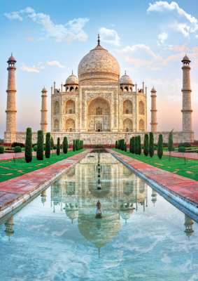 Taj Mahal (TRE37164), a 500 piece jigsaw puzzle by Trefl. Click to view larger image.