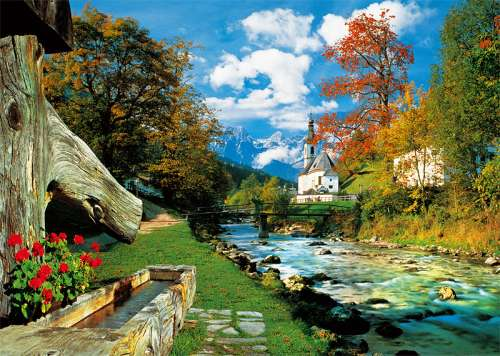 Bavarian Alps, Germany (TRE27061), a 2000 piece jigsaw puzzle by Trefl. Click to view larger image.
