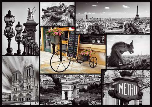 Paris Collage (TRE10279), a 1000 piece jigsaw puzzle by Trefl. Click to view larger image.
