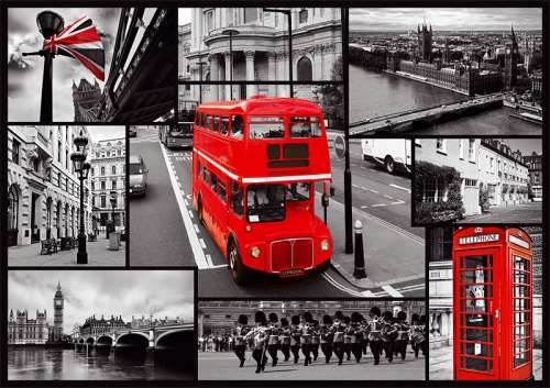 London Collage (TRE10278), a 1000 piece jigsaw puzzle by Trefl. Click to view larger image.