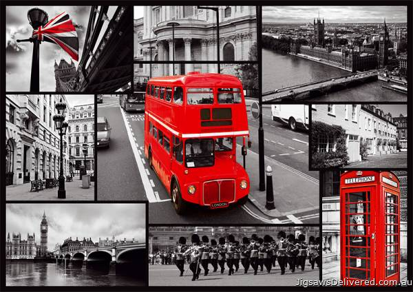 London Collage (TRE10278), a 1000 piece jigsaw puzzle by Trefl.