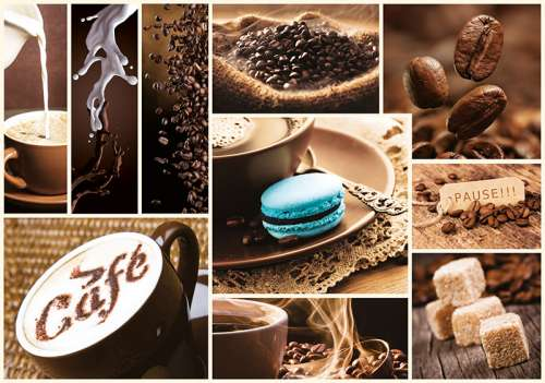 Coffee (TRE10359), a 1000 piece jigsaw puzzle by Trefl. Click to view larger image.