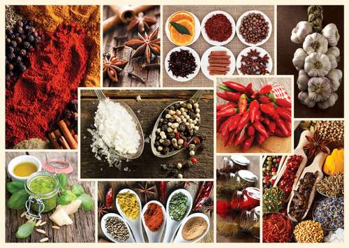 Spices (TRE10358), a 1000 piece jigsaw puzzle by Trefl. Click to view larger image.
