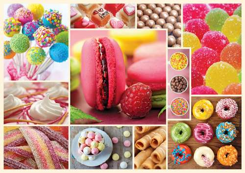 Candy (TRE10357), a 1000 piece jigsaw puzzle by Trefl. Click to view larger image.