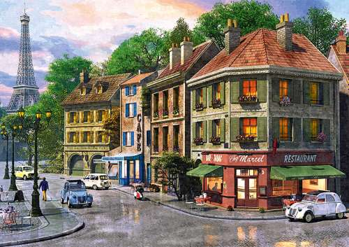Streets of Paris (TRE65001), a 6000 piece jigsaw puzzle by Trefl. Click to view larger image.