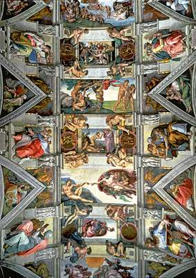 Sistine Chapel Ceiling (TRE65000), a 6000 piece jigsaw puzzle by Trefl. Click to view larger image.