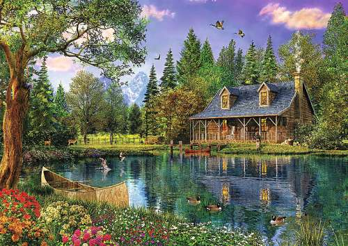Afternoon Idyll (TRE45005), a 4000 piece jigsaw puzzle by Trefl. Click to view larger image.