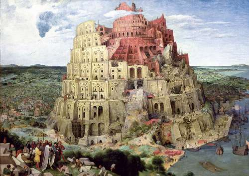 Tower of Babel (TRE45001), a 4000 piece jigsaw puzzle by Trefl. Click to view larger image.