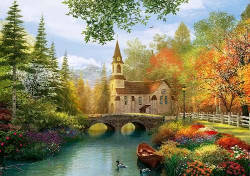 Autumn Nostalgia (TRE45000), a 4000 piece jigsaw puzzle by Trefl. Click to view larger image.