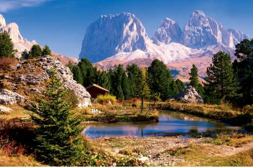 Lake in the Dolomites (TRE33012), a 3000 piece jigsaw puzzle by Trefl. Click to view larger image.