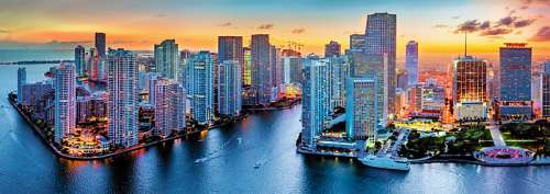 Miami USA Panorama (TRE29027), a 1000 piece jigsaw puzzle by Trefl. Click to view larger image.