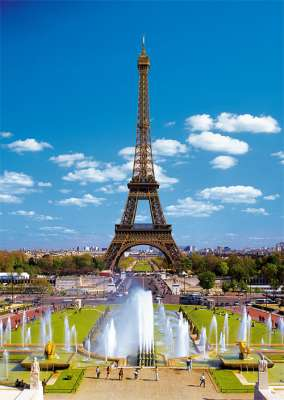 Eiffel Tower, Paris (TRE27051), a 2000 piece jigsaw puzzle by Trefl. Click to view larger image.