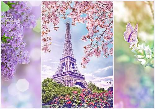 Spring in Paris (TRE10409), a 1000 piece jigsaw puzzle by Trefl. Click to view larger image.
