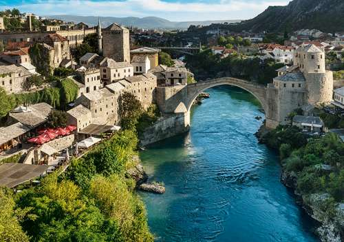 Mostar, Bosnia and Herzegovina (TRE10383), a 1000 piece jigsaw puzzle by Trefl. Click to view larger image.