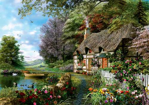 Charming Nook (TRE10297), a 1000 piece jigsaw puzzle by Trefl. Click to view larger image.