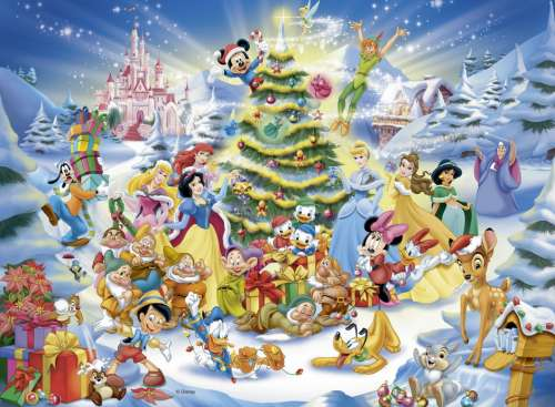 Disney Christmas Magic (RB10545-8), a 100 piece jigsaw puzzle by Ravensburger. Click to view larger image.