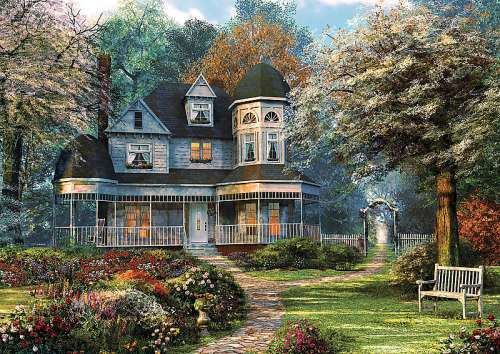 House of Dreams (TRE37241), a 500 piece jigsaw puzzle by Trefl. Click to view larger image.