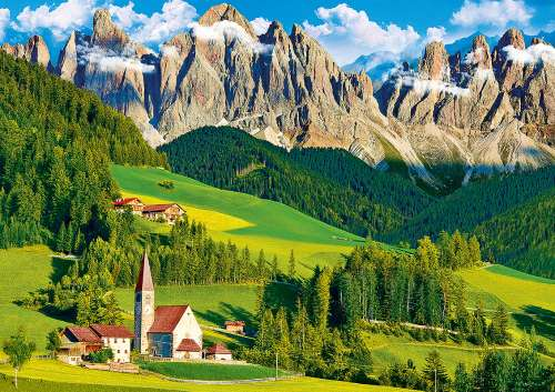 South Tyrol, Dolomites, Italy (TRE37189), a 500 piece jigsaw puzzle by Trefl. Click to view larger image.