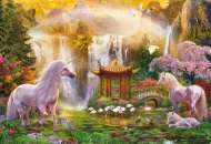 Unicorn Valley of the Waterfalls (EDU16270), a 500 piece Educa jigsaw puzzle.