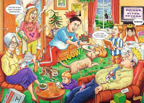 Christmas Day (What If? #15) (RB19657-9), a 1000 piece jigsaw puzzle by Ravensburger. Click to view larger image.
