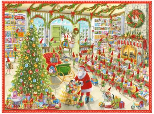 Santa's Ready (RB19668-5), a 1000 piece jigsaw puzzle by Ravensburger. Click to view larger image.