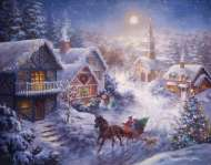 Dashing Through the Snow (Large Pieces) (RB13581-3), a 300 piece Ravensburger jigsaw puzzle.