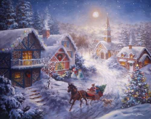 Dashing Through the Snow (Large Pieces) (RB13581-3), a 300 piece jigsaw puzzle by Ravensburger. Click to view larger image.