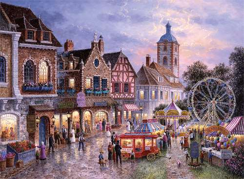 Funfair (TRE33033), a 3000 piece jigsaw puzzle by Trefl. Click to view larger image.