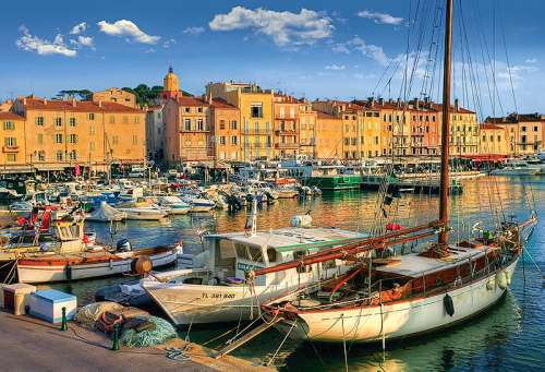 Old Port in St Tropez, France (TRE26130), a 1500 piece jigsaw puzzle by Trefl. Click to view larger image.