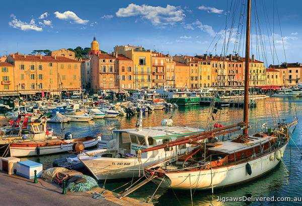 Old Port in St Tropez, France (TRE26130), a 1500 piece jigsaw puzzle by Trefl.