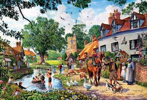Country Idyll (TRE26121), a 1500 piece jigsaw puzzle by Trefl. Click to view larger image.