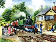 Country Stop (Large Pieces) (SUN13319), a 300 piece Sunsout jigsaw puzzle.