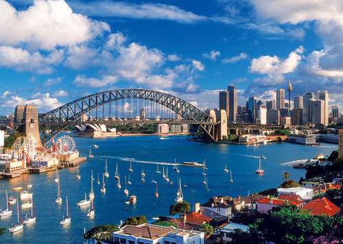 Sydney Harbour (TRE10206), a 1000 piece jigsaw puzzle by Trefl. Click to view larger image.