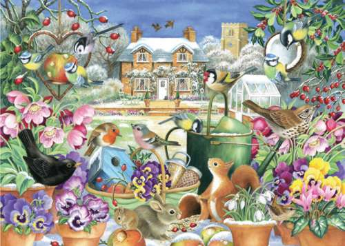 Winter Garden (JUM11130), a 1000 piece jigsaw puzzle by Jumbo. Click to view larger image.