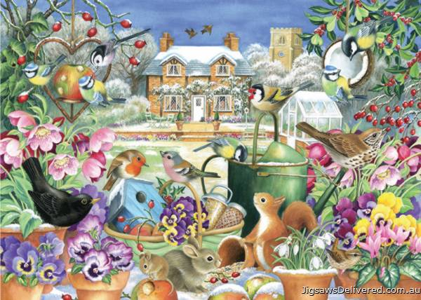 Winter Garden (JUM11130), a 1000 piece jigsaw puzzle by Jumbo.