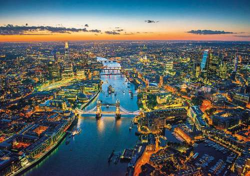 London Aerial View (EDU16765), a 1500 piece jigsaw puzzle by Educa. Click to view larger image.